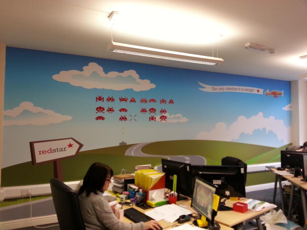 Full Wall Art in an Office